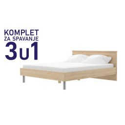Komplet za spavanje u dimenziji 200x140 san remo - krevet Paola, madrac podnica