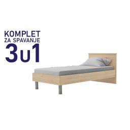 Komplet za spavanje u dimenziji 190x90 sanremo - krevet Paola, madrac i podnica