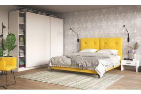 Komplet za spavaću sobu, Lora krevet i Oskar lux klizni ormar