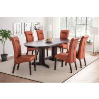 Komplet stol ovalni Kali sa stolicama Lea
