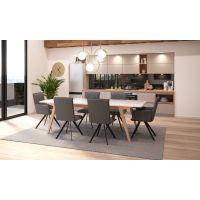 Komplet stol na razvlačenje Verto i stolice Lago