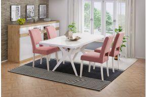 Komplet stol na razvlačenje Davos 120(165)x90 i stolice Lara