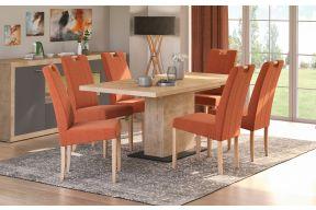 Komplet stol na razvlačenje Dublin i stolice Ana