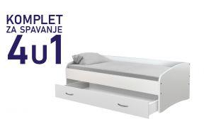 Komplet za spavanje s ladicom kreveta 200x90 - 1.999,00