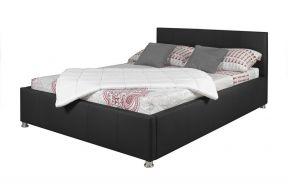 Komplet za spavanje s podnicama i sandukom 200x160, crna boja
