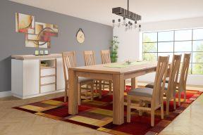 Komplet stol na razvlačenje Anton i stolice Farington