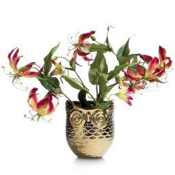 Ukrasna tegla za cvijeće, Owl