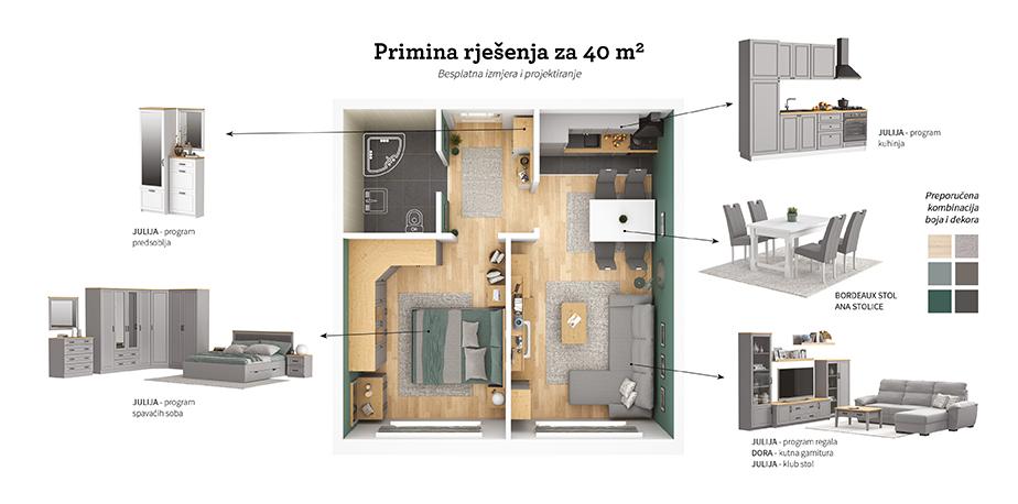 tlocrt 40 m2