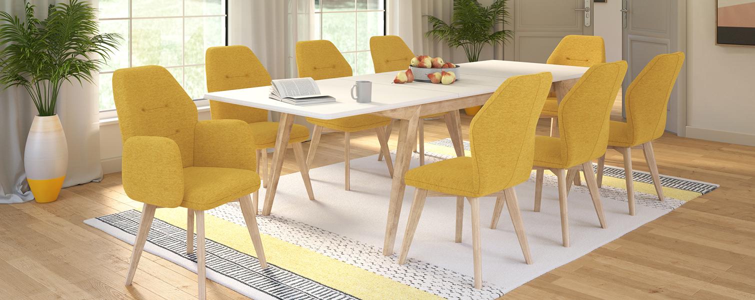 Stol Verto s foteljama i stolicama Mondo